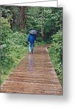 A Rainey Day In Alaska Greeting Card