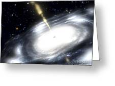A Rare Galaxy That Is Extremely Dusty Greeting Card by Stocktrek Images