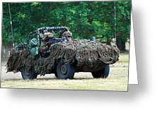 A Recce Unit Of The Belgian Army Greeting Card
