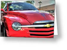 A Red Chevy Greeting Card