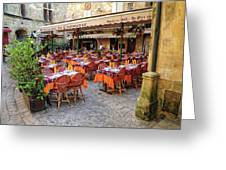 A Restaurant In Sarlat France Greeting Card