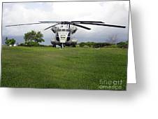 A Rh-53d Sea Stallion Helicopter Greeting Card