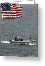 A Rigid Hull Inflatable Boat Greeting Card
