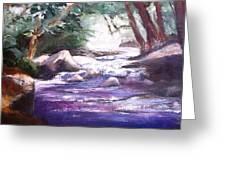A River Runs Through Greeting Card