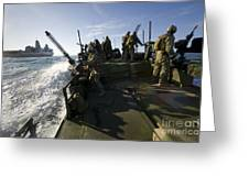 A Riverine Squadron Conducts Security Greeting Card