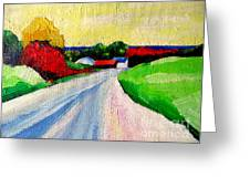 A Road Up North Greeting Card by Lisa Dionne