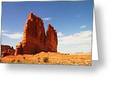 A Rock At Arches Greeting Card