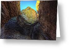 A Rock Balanced Precariously Greeting Card
