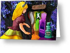 A Room In Wonderland  Greeting Card by Lois Mountz