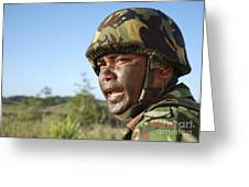 A Royal Brunei Land Force Soldier Greeting Card