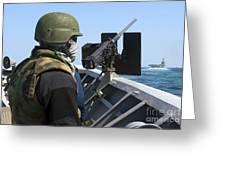 A Sailor Manning A .50-caliber Machine Greeting Card