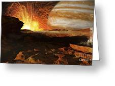 A Scene On Jupiters Moon, Io, The Most Greeting Card