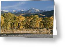 A Scenic View Of The Yellowstone River Greeting Card