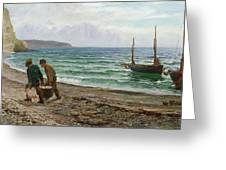 A Sea View Greeting Card by Colin Hunter