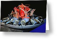 A Seafood Orgy Greeting Card