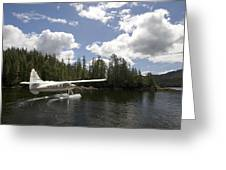 A Seaplane Taking Off From Vancouver Greeting Card