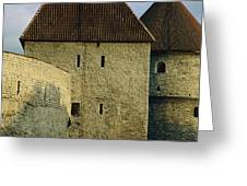 A Section Of Wall Around Tallinn, Built Greeting Card by Sisse Brimberg