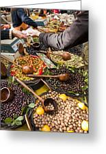 A Selection Of Olives Sit Greeting Card