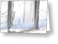 A Simple Window Sketch Greeting Card