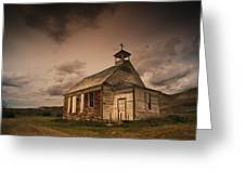 A Simple Wooden Church Greeting Card