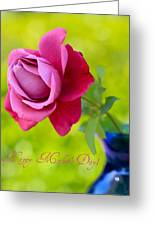 A Single Rose II Mother's Day Card Greeting Card
