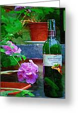 A Sip Of Wine Greeting Card by Amanda Moore