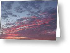 A Sky On Fire Greeting Card