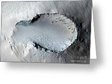 A Small Cone On The Side Of One Of Mars Greeting Card