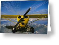 A Small Personal Aircraft Sitting Greeting Card