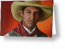 A Smile From The Andes, Peru Impression Greeting Card