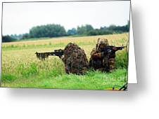 A Sniper Unit Of The Paracommandos Greeting Card