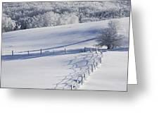 A Snowy Field Greeting Card
