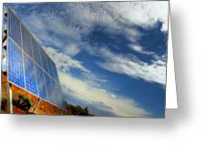 A Solar Panel In The Desert Of South Greeting Card