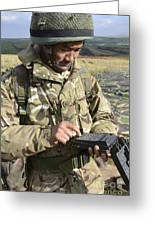 A Soldier Inputs The Firing Data Greeting Card