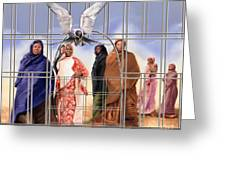A Song For The Caged Birds Of Mauritania Greeting Card