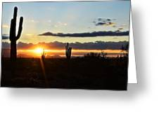 A Southwest Morning  Greeting Card