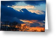 A Spring Sunset Greeting Card