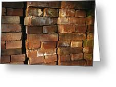 A Stack Of Bricks Greeting Card