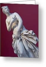 A Statue Of Aphrodite At The Acropolis Greeting Card by Richard Nowitz