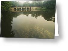 A Stone Bridge Built By The Civilian Greeting Card