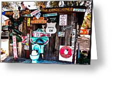 A Stop Along Route 66 Greeting Card