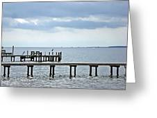 A Stormy Day On The Pamlico River Greeting Card