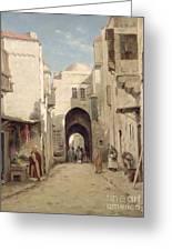 A Street In Jerusalem Greeting Card