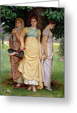 A Summer Shower Greeting Card by Charles Edward Perugini