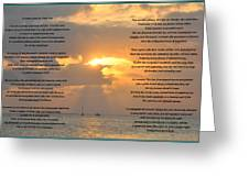 A Sunset A Poem - Victor Hugo Greeting Card