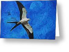A Swallow And The Moon Greeting Card