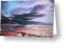 A Swift Moving Thunderstorm Moves Greeting Card