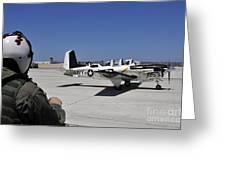 A T-35c Training Aircraft Prepars Greeting Card