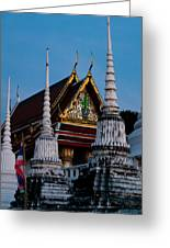 A Temple In A Wat Monestry In Tahiland Greeting Card