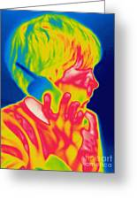 A Thermogram Of A Boy Talking Greeting Card